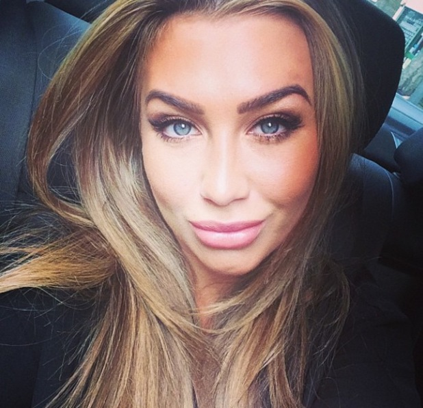 Lauren Goodger takes a selfie on her way to Samaritans launch - 16 June 2014