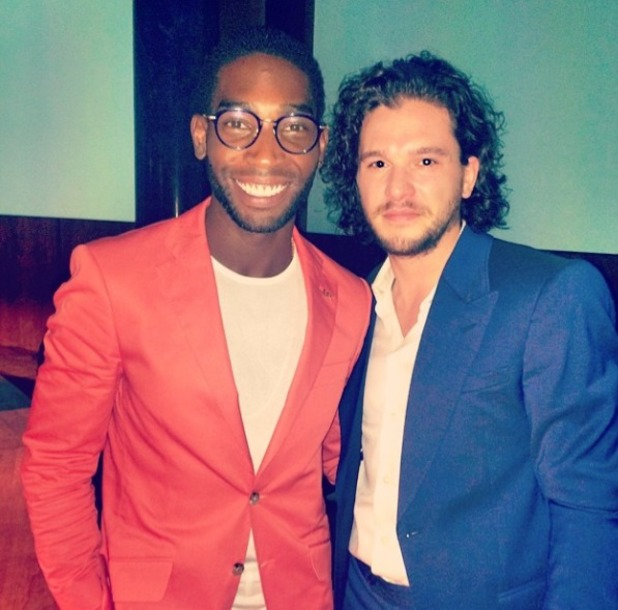 Tinie Tempah and Kit Harrington at Jimmy Choo event, 16 June.