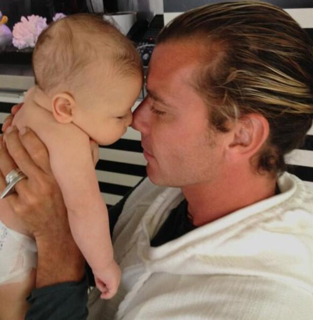 Gwen Stefani shares super cute Father's Day photo of son Apollo and husband Gavin Rossdale (15 June).