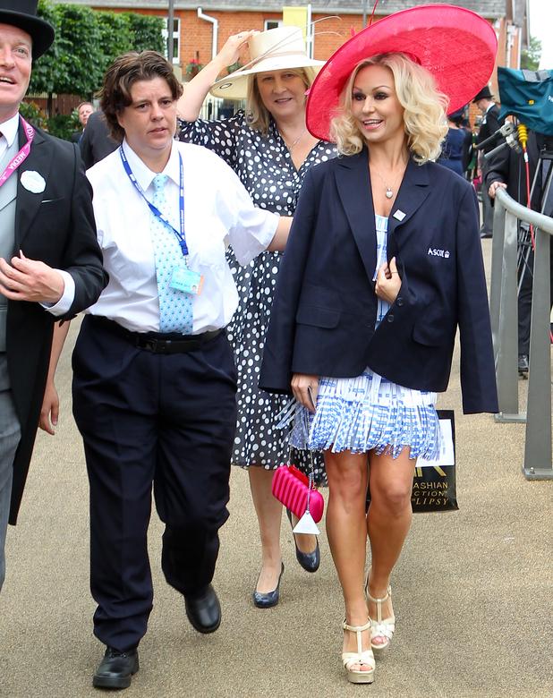 Kristina Rihanoff thrown out of Royal Ascot for betting slip dress - 18 June 2014