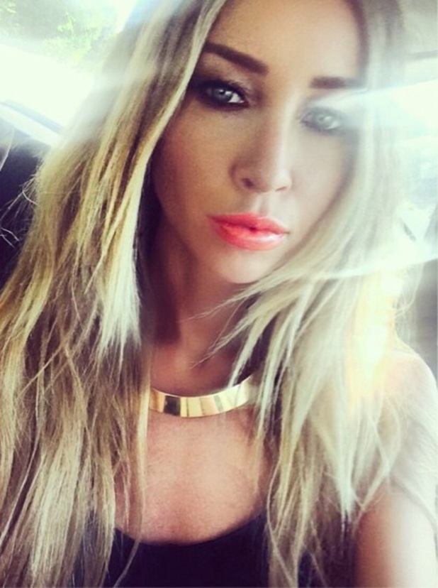 TOWIE's Lauren Pope does orange lips while out in Marbella, Spain - 13 June 2014