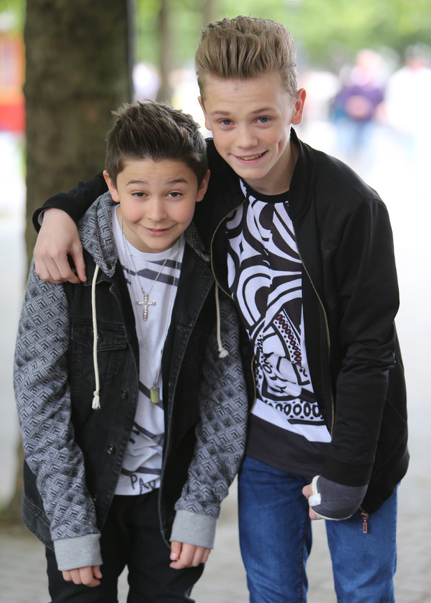 Britain's Got Talent finalists Bars and Melody outside the ITV studios filming This Morning - 5 June 2014.