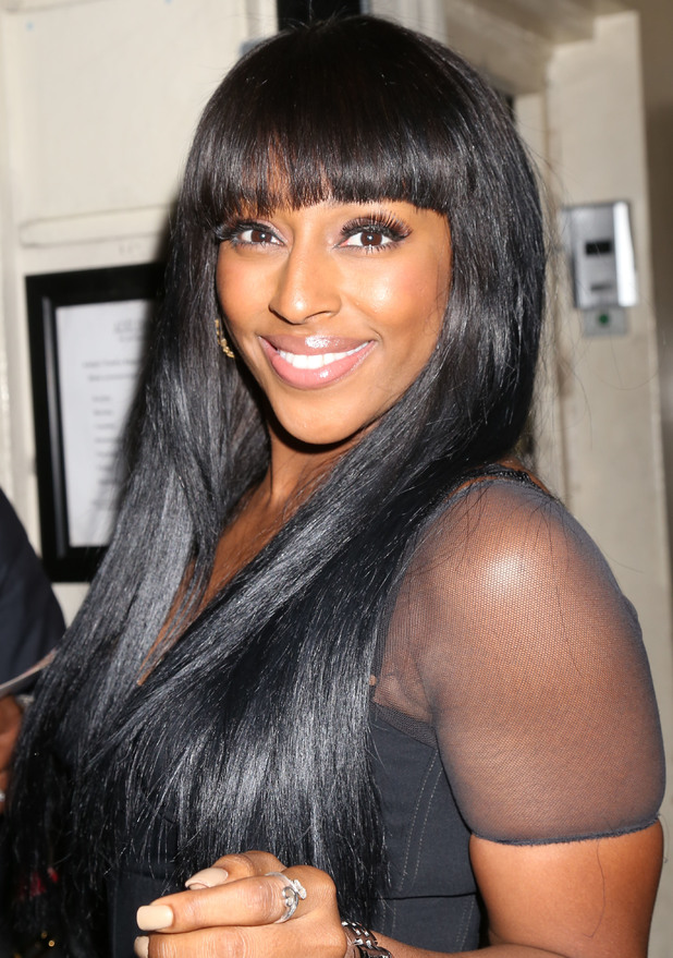 Alexandra Burke at the Adelphi Theatre after her debut performance in 'The Bodyguard' musical, 2 June 2014