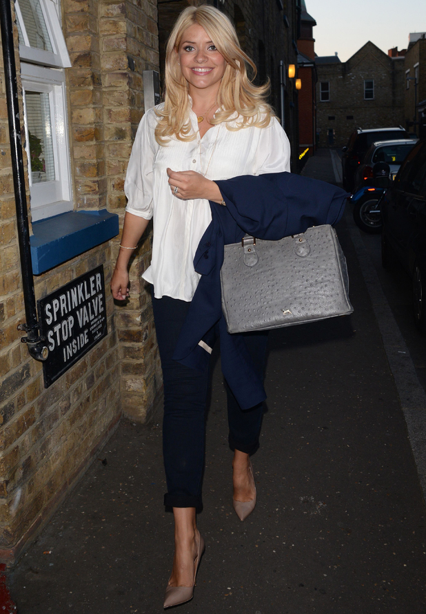 Celebrities at the Richmond Theatre, London, Britain - 18 Jun 2014 Holly Willoughby