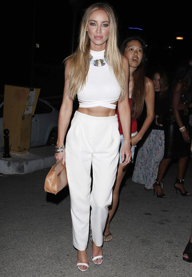 Lauren Pope wears an all-white outfit at the launch of The Only Way Is Marbs: Marbella Anthems - Marbella, Spain - 14 June 2014