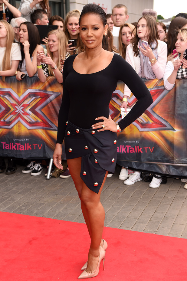 Mel B arrives at Old Trafford stadium for 'The X Factor' Manchester auditions - 16 June 2014