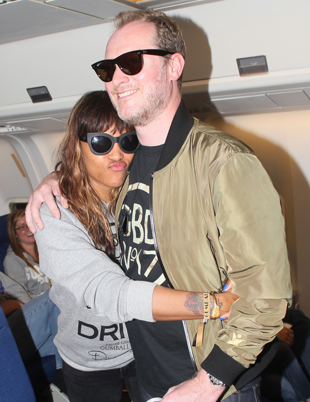 Eve and Maximillion Cooper Gumball 3000 Flight from New York to Scotland, 8 June 2014