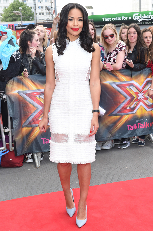 Sarah-Jane Crawford at The X Factor London auditions held at the Emirates stadium - Arrivals, 20 June 2014