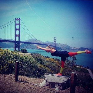 TOWIE's Billi Mucklow and Andy Carroll ride bikes and do yoga at Golden Gate Bridge in San Fran - 24 June 2014