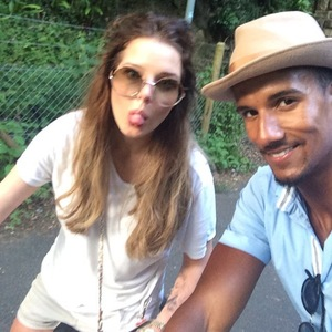 Helen Flanagan enjoys bike ride with boyfriend Scott Sinclair (22 June).