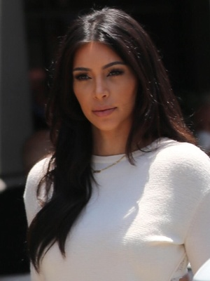 Kim Kardashian. The three Kardashian sisters have lunch at 'Toast' while filming an episode for their reality show, 23 June 2014