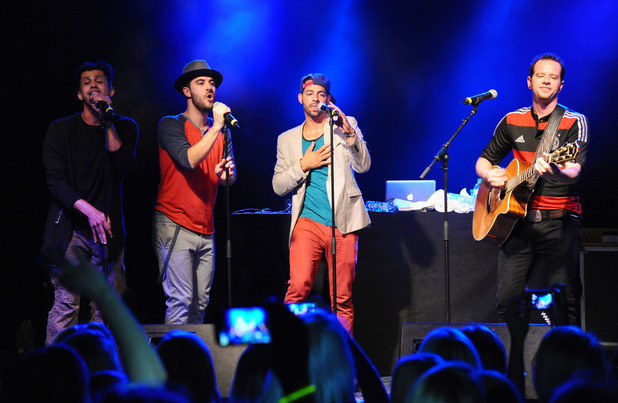 American boy band O-Town perform live at the C-C Club in Berlin 06/18/2014 Berlin, Germany