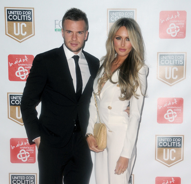 Tom Cleverly and Georgina Dorsett at an exclusive night of fundraising for Crohn's and Colitis 03/27/2014 Manchester, United Kingdom