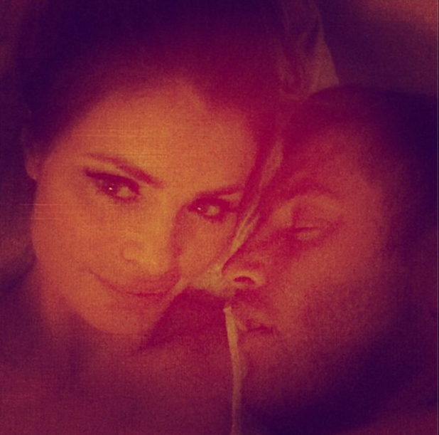 Chloe Sims and Elliott Wright in bed together, 23 June 2014