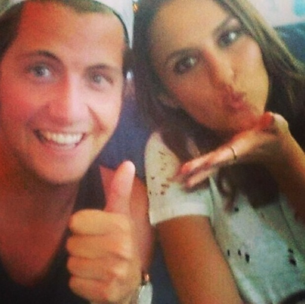 Made In Chelsea's Lucy Watson and Stevie Johnson send 'miss you' message to Stephanie Pratt in New York. (26 June).