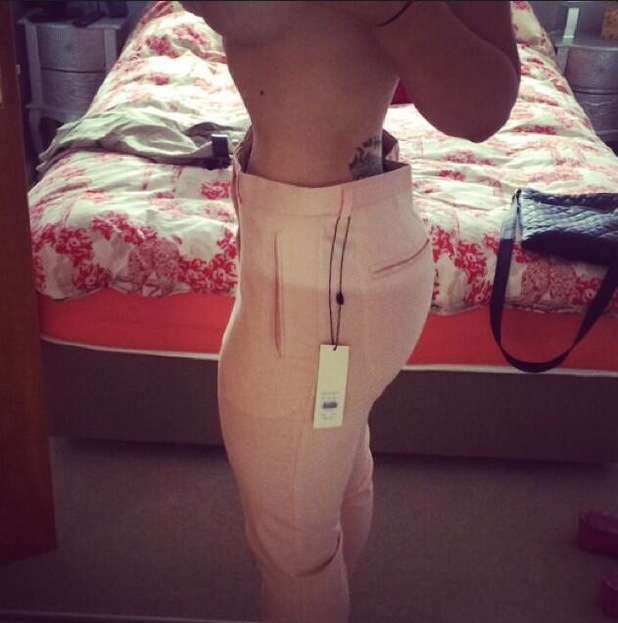 Holly Hagan shows off tiny waist after corseting - 27 June 2014
