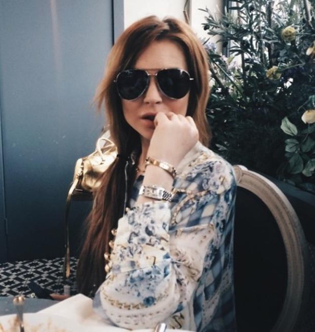 Lindsay Lohan on Tom Kilbey's Instagram