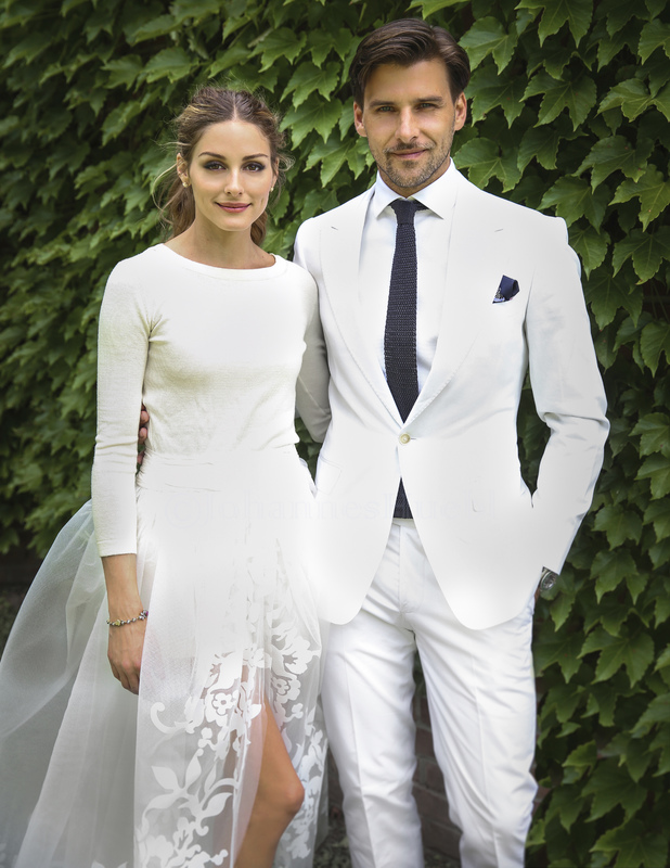 Olivia Palermo shares picture of her wedding to Johannes Huebl, 29 June 2014