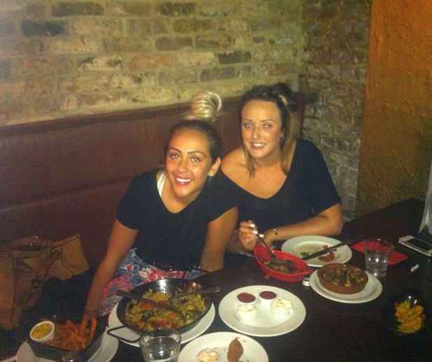Charlotte Crosby and Sophie Kasaei at The Cuban, Camden, London, 26 June 2014