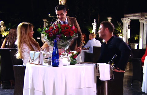 TOWIE's Elliott Wright surprises Chloe Sims with roses on date in Marbella, episode 22 June 2014