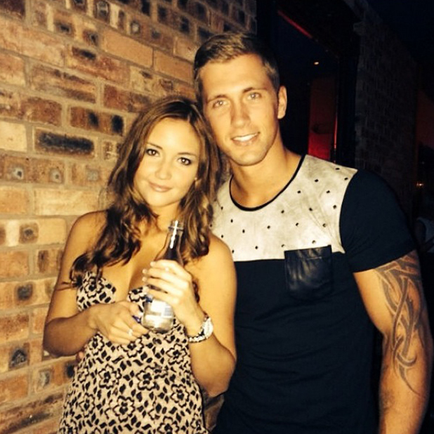 Jacqueline Jossa and Dan Osborne on a night out in a photo tweeted by Dan, June 2014