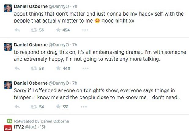 TOWIE's Dan Osborne responds to Jasmin Walia drama in Marbella - 25 June 2014