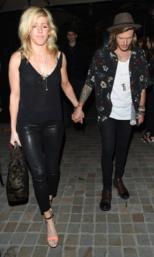 Ellie Goulding and Dougie Poynter at the Chiltern Firehouse, London, 24 June 2014