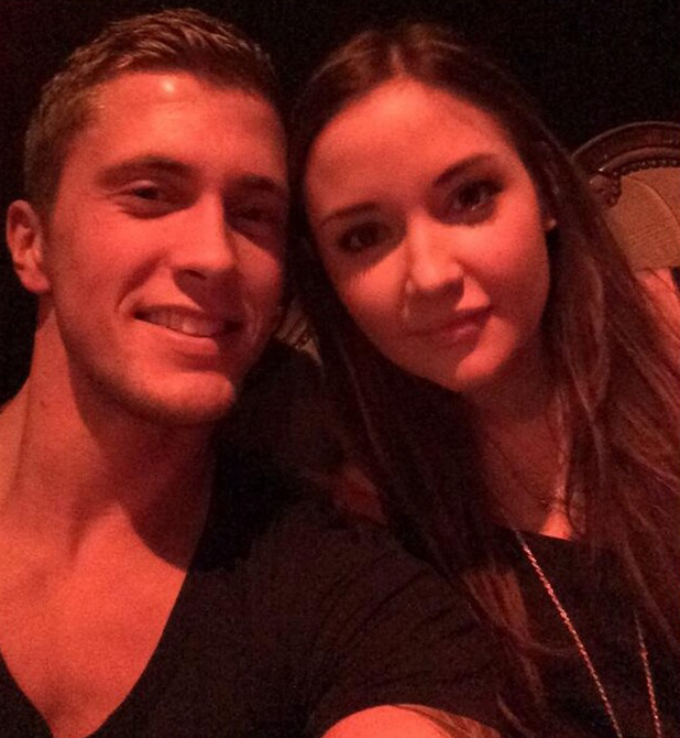 Dan Osborne and Jacqueline Jossa in a new selfie, tweeted 26 June 2014