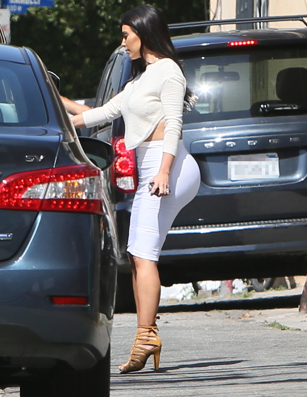 Kim Kardashian seen leaving the Dash store after filming Keeping Up With The Kardashians, LA, 23 June 2014
