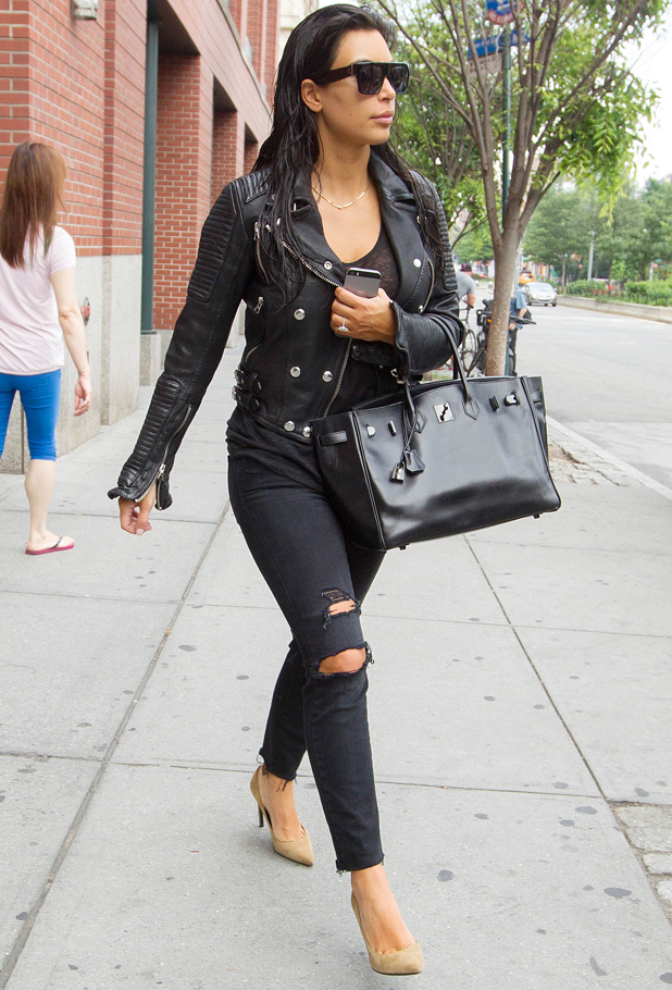Kim Kardashian out and about, New York, America - 25 Jun 2014