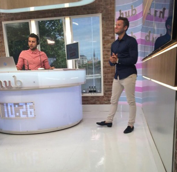 Michelle Keegan and Mark Wright on ITV This Morning's The Hub, 26 June 2014