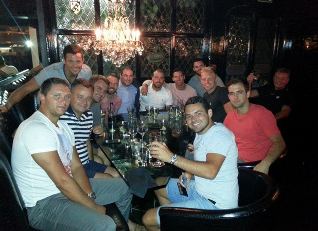 Mark Wright's dad Mark Wright, Sr. shares photo of pre-stag meeting 23 June 2014