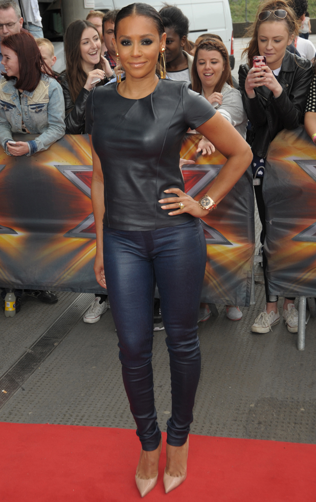 Mel B, The X Factor London auditions held at the Emirates stadium, 24 June 2014