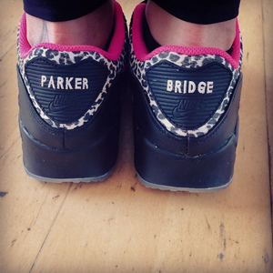 The Saturdays star Frankie Sandford shares photo of trainers emblazoned with name of son Parker, June 2014