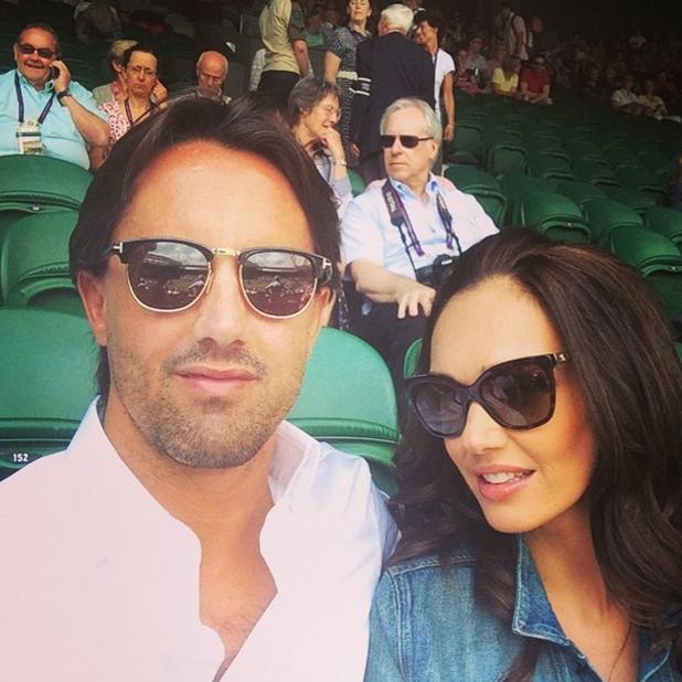 Tamara Ecclestone and Jay Rutland at Wimbledon, 24 June 2014