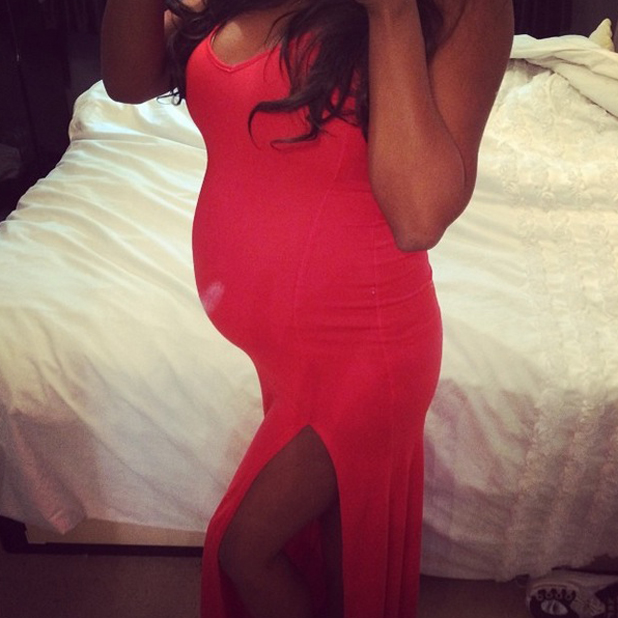 TOWIE's Danni Park-Dempsey shares bump picture with two weeks to go, June 2014