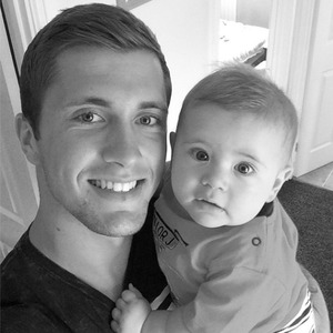 Dan Osborne and son Teddy, 4 July 2014