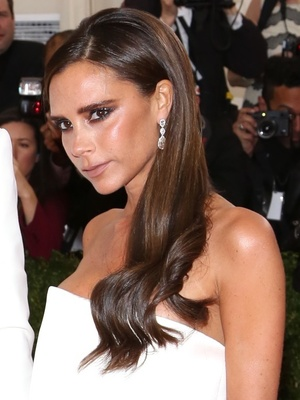 David and Victoria Beckham at the Costume Institute Gala at the Metropolitan Museum of Art - Outside Arrivals. 6 May 2014.