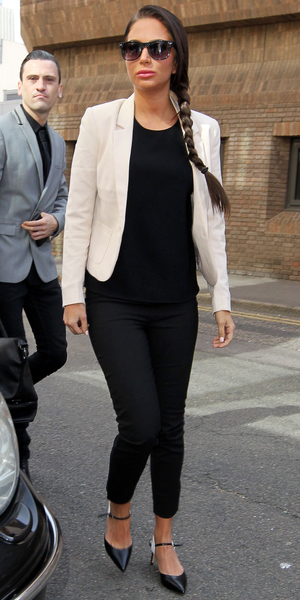 Tulisa Contostavlos in court charged with assault, Chelmsford Magistrates Court, Essex, Britain - 02 Jul 2014