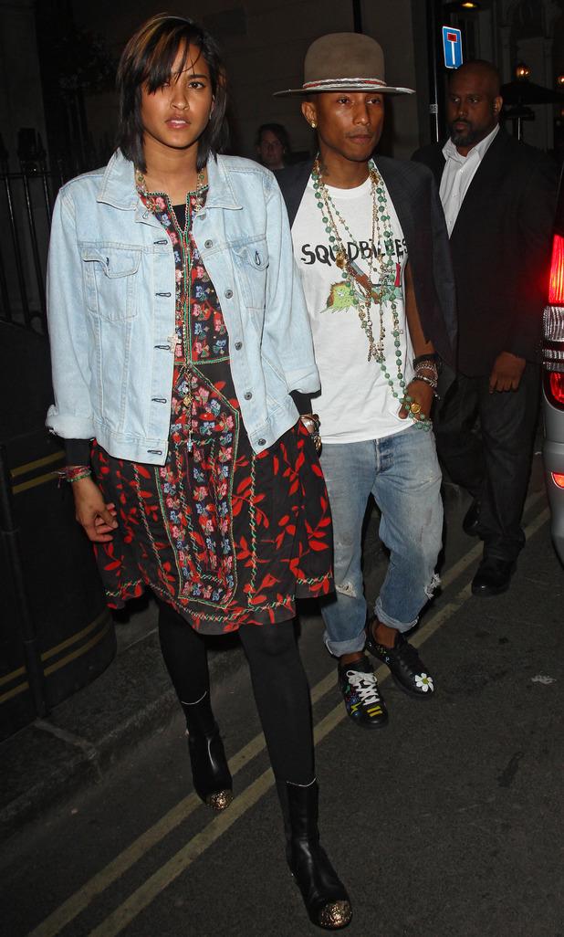 Pharrell Williams at the Groucho Club 07/02/2014 London, United Kingdom