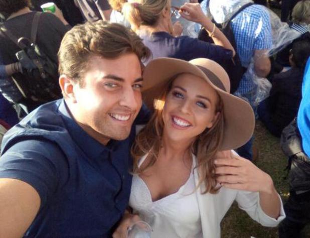 TOWIE's Lydia Bright and James 'Arg' Argent get close at Calling festival in London - 30 June 2014