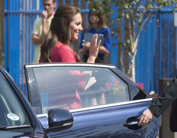 The Duchess of Cambridge visits Blessed Sacrament School to see the progress of M-PACT Plus. North London - 1 July.