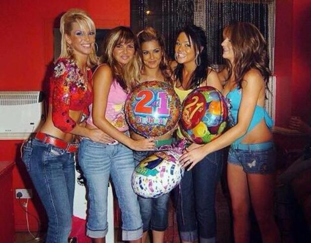 Kimberley Walsh shares a picture of Girls Aloud on Cheryl Cole's 21st birthday - 30 June 2014