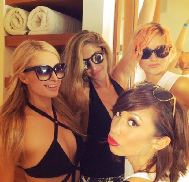 Paris Hilton parties in Malibu, 6.7.14