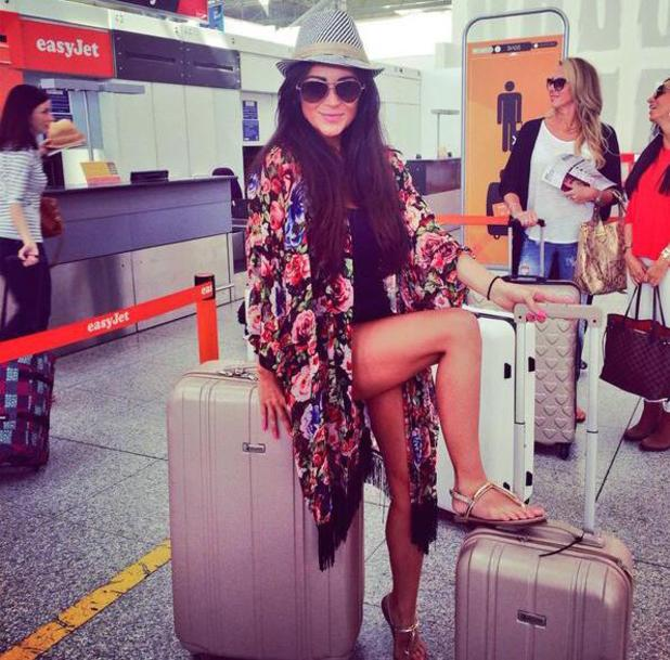 Celebrity Big Brother star Casey Batchelor jets off to Ibiza with friends (28 June).