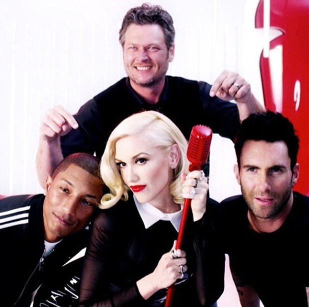 First look: Season 7 of The Voice US coaches - June 2014.