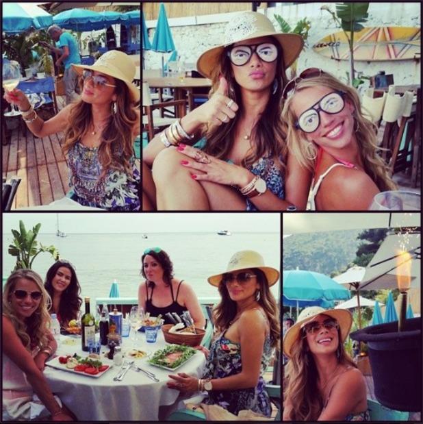 Nicole Scherzinger with friends in Monaco, posted 4.7.14