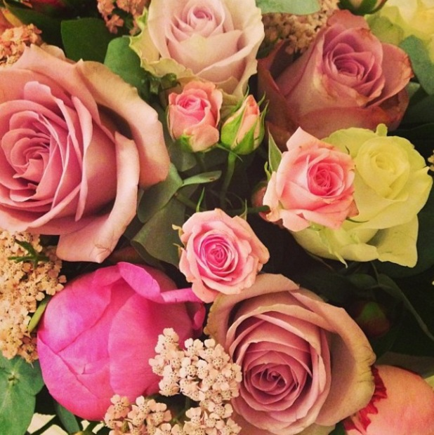 Fearne Cotton shares a picture of her bridal bouquet - 4 July 2014