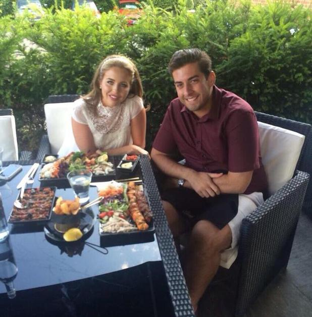 TOWIE: James 'Arg' Argent and Lydia Bright dine out at Sheesh Chigwell (1 July).