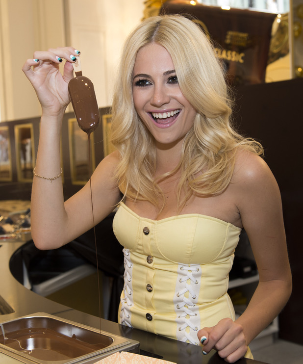 Pixie Lott attends the Make My Magnum launch party at Selfridges in London, England - 2 July 2014